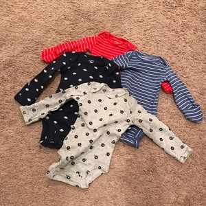 Carters newborn boys long sleeves